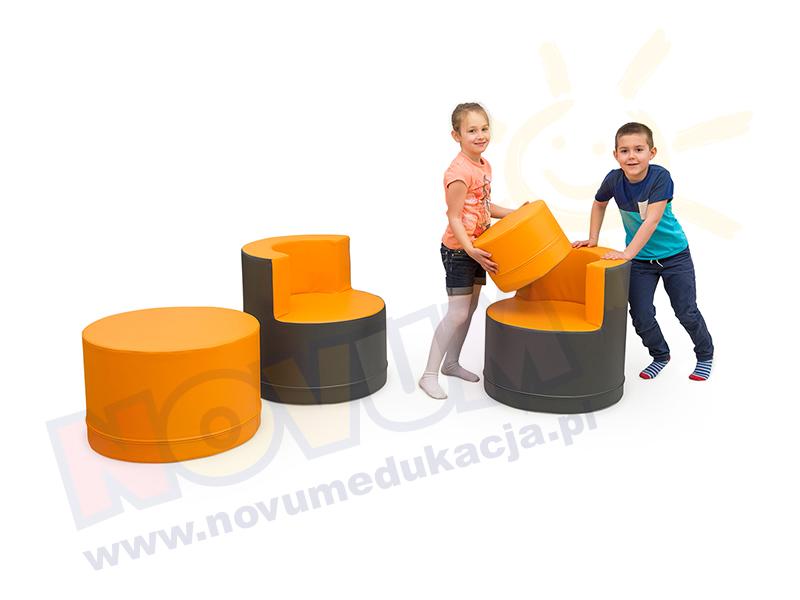 Novum Zestaw wypoczynkowy pomarańczowy